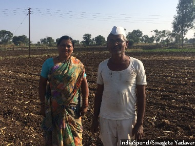 Madhavrao Thorat, a marginal farmer, has no time to spare to stand in the lines outside banks as he is sowing onions in his field, in the village of Devgaon, more than 200 km north of Mumbai. Image courtesy: IndiaSpend