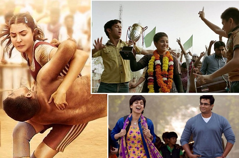 (Clockwise from above left) Aarfa from 'Sultan'; Geeta in 'Dangal'; Datto in 'Tanu Weds Manu Returns'
