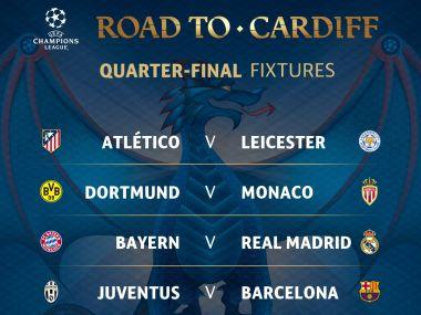 UEFA Champions League and Europa League QF draw, as it happened: Real face Bayern, Man United take on Anderlecht