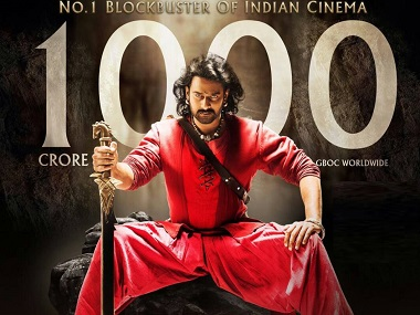 Image result for Director SS Rajamouli film Bahubali 2 becoming first Indian movie to pass Rs 1000 crore Box Office collection