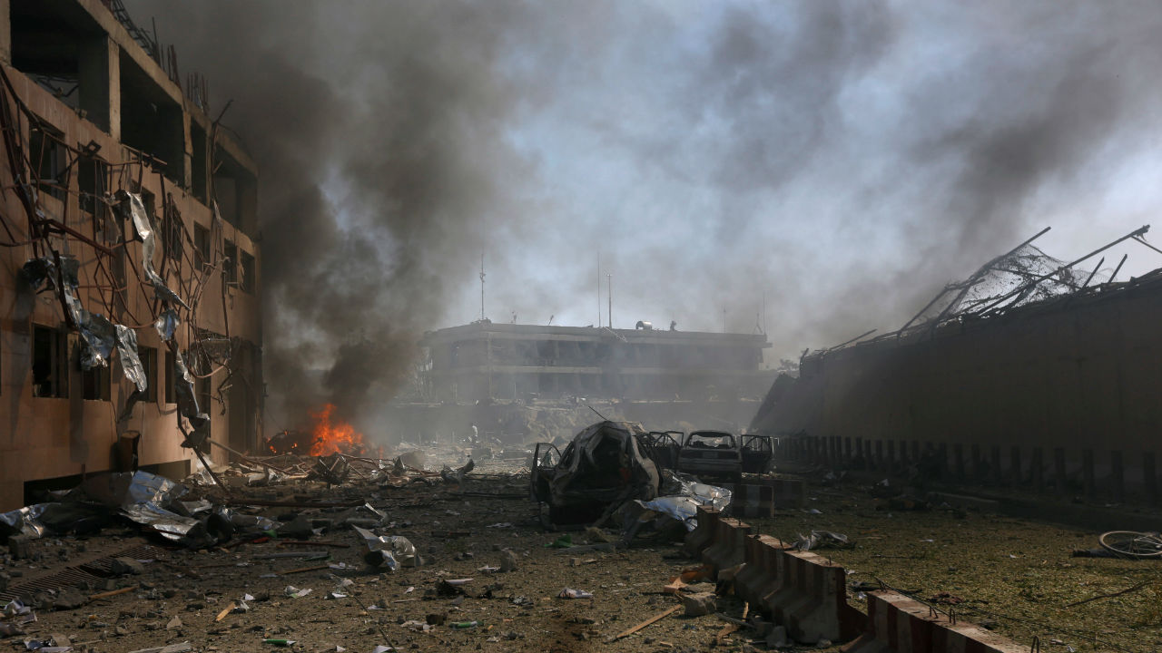 Kabul blast: Afghan capital tense after police crackdown on protesters kills one and injures six