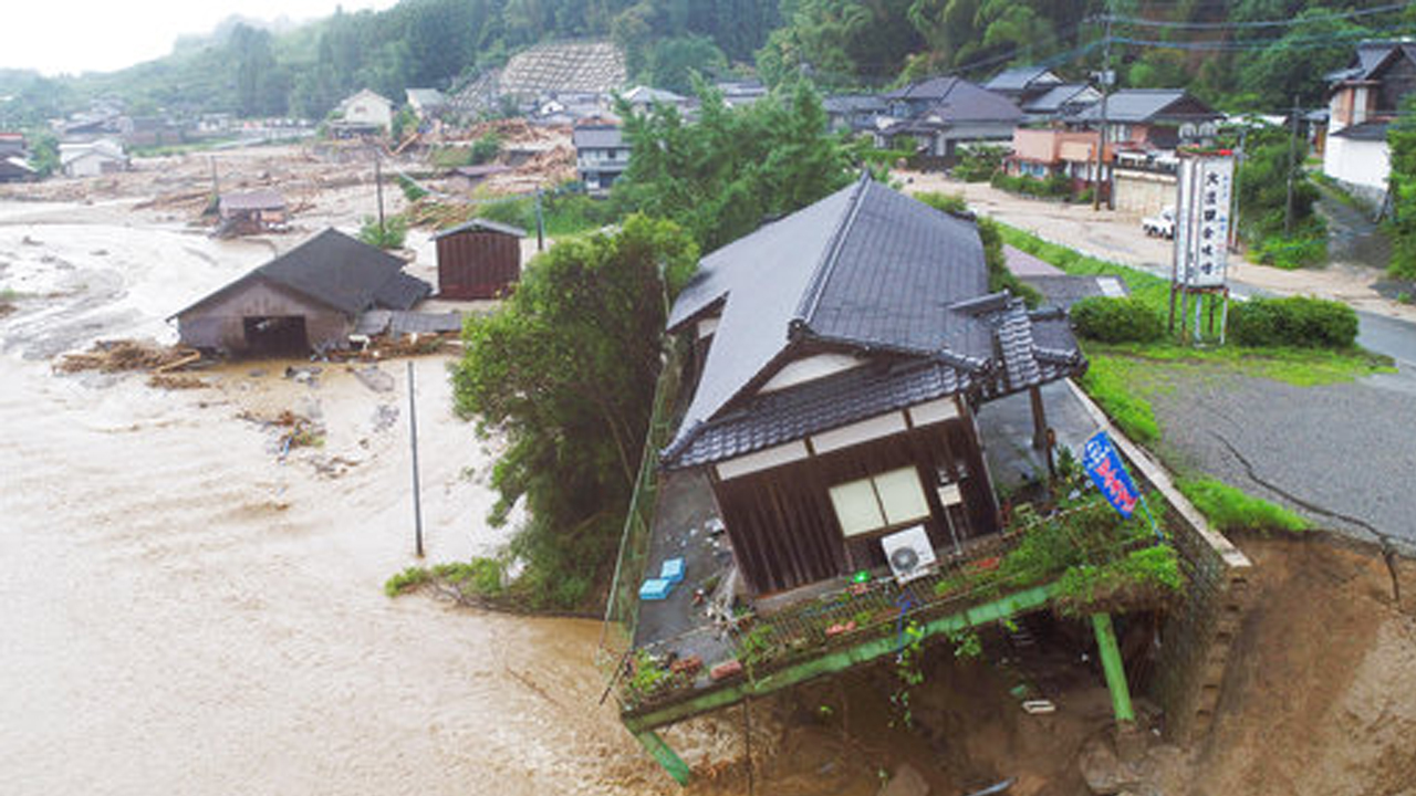 Japan floods: 18 dead, 27 missing; heavy rains, mudslides expected to continue in Kyushu