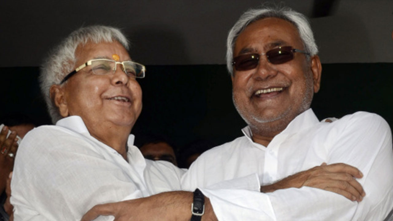 In Bihar Lalu Prasad Yadav s spectre looms large over Nitish