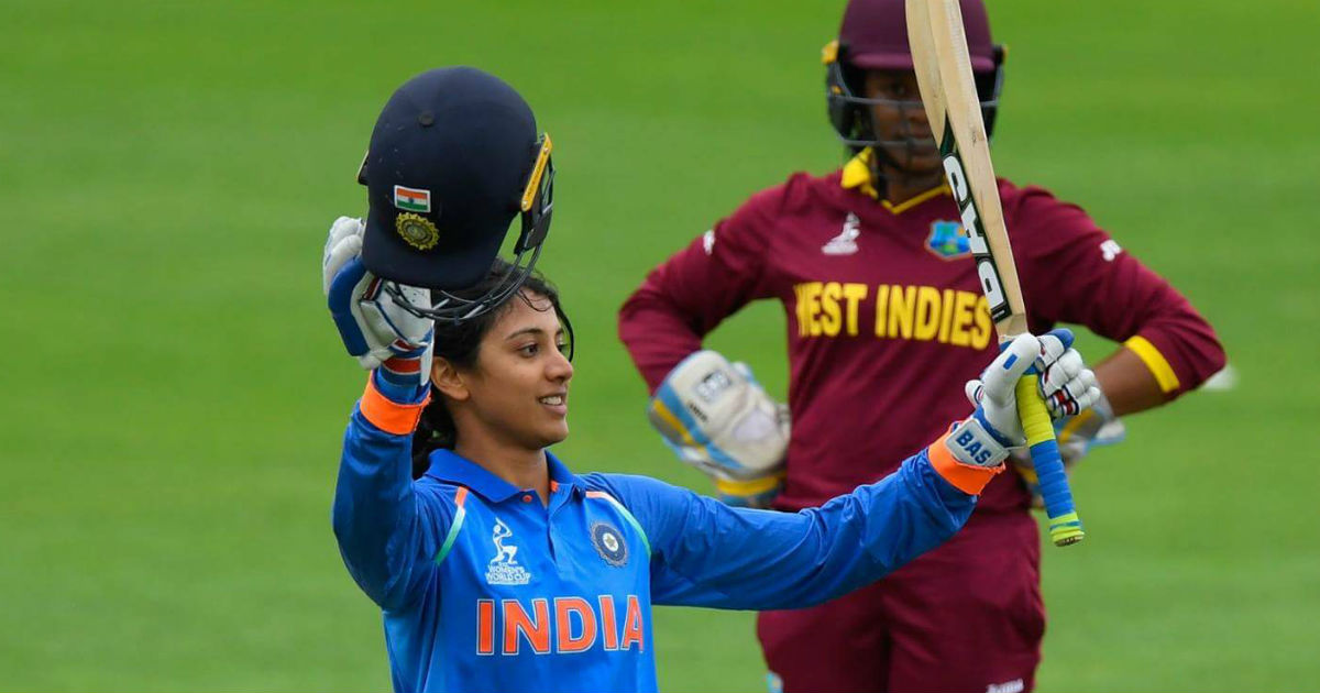 smriti mandhana 100 in women world cup 2017