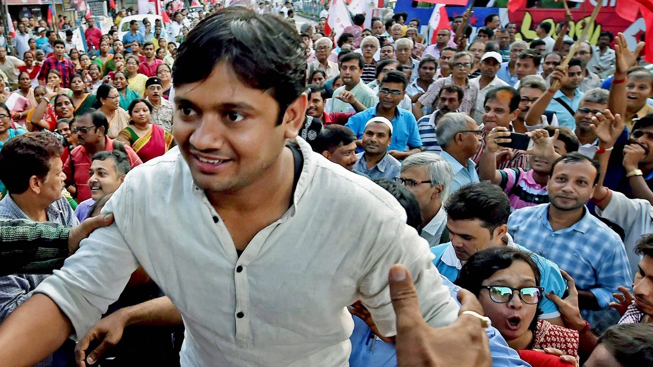 Three injured in scuffle in Kanhaiya Kumar led AISF rally in Kolkata