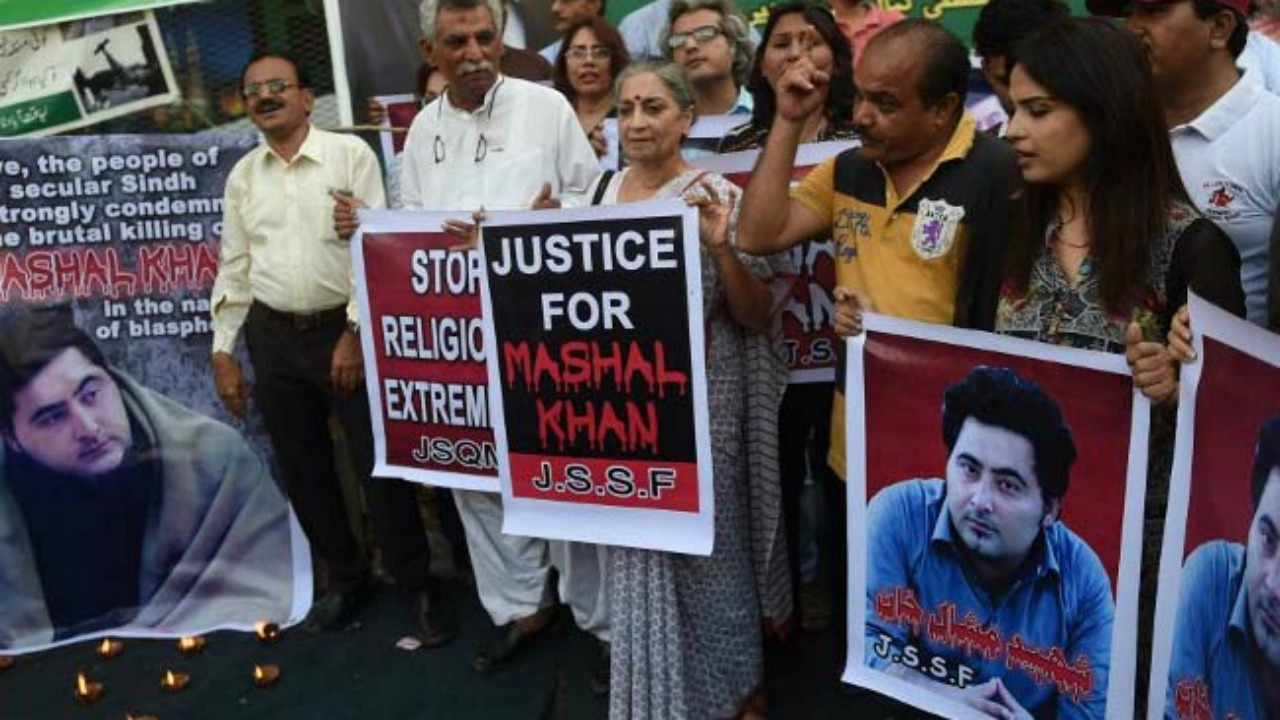 Pakistan court charges 57 people in mob lynching case of university student mashal khan over blasphemy allegations