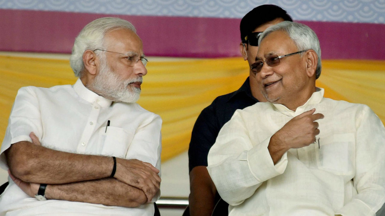 Amid talks of strain in JD U BJP ties Nitish Kumar remains non