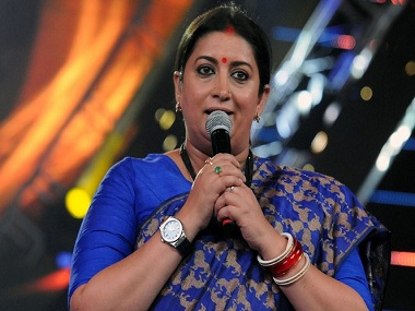 IFFI 2017: During welcome speech, Smriti Irani says 'we are a tolerant government'
