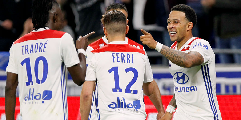 aef9352a45b Ligue 1  Memphis Depay helps Lyon snap winless streak with victory over  Angers