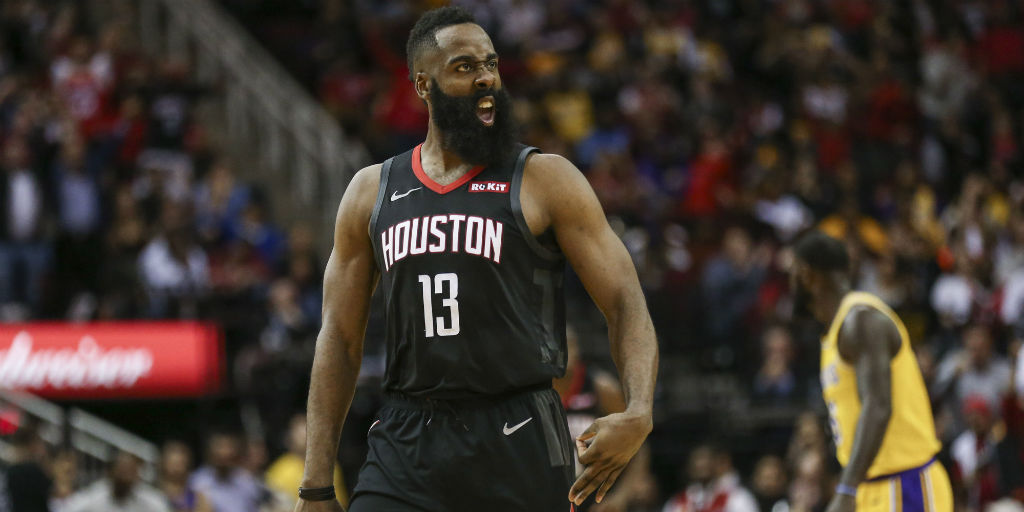a33d651928b NBA  James Harden propels Rockets to victory over Grizzlies  Warriors