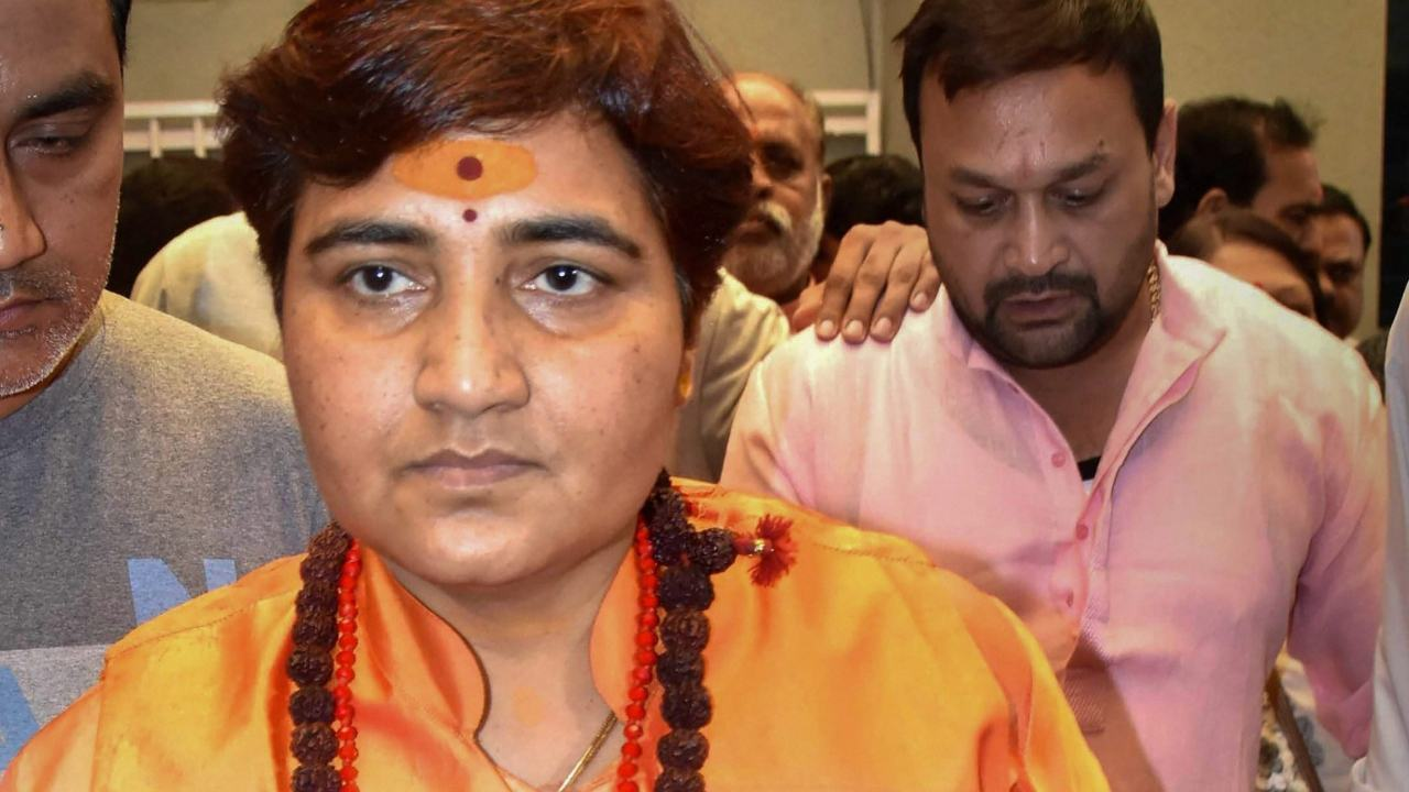 Image result for Sadhvi Pragya Congress raised the question of being a member of the Defense Committee