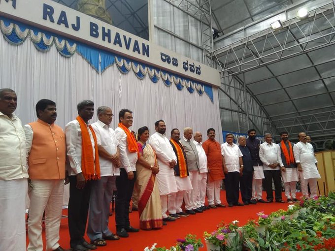 Image result for CM Yediyurappa Inducts 17 Ministers Into Lingayat-Heavy Cabinet