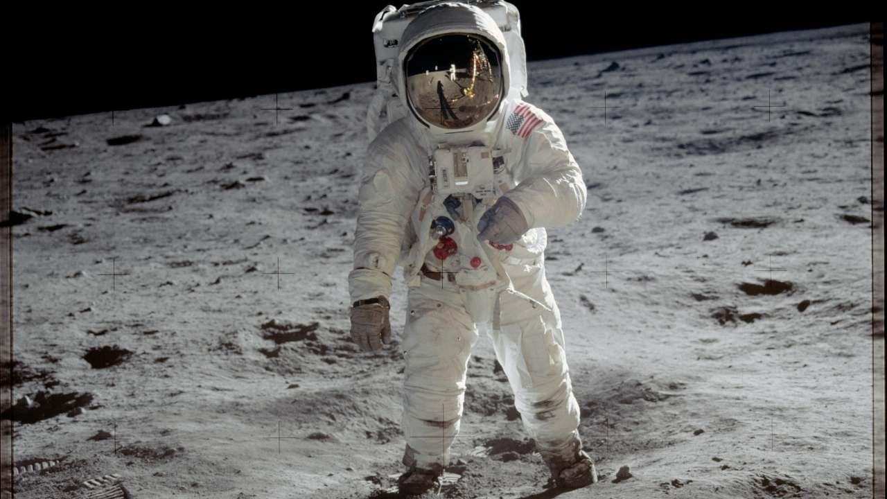 Astronaut Buzz Aldrin on the moon. Image credit: NASA