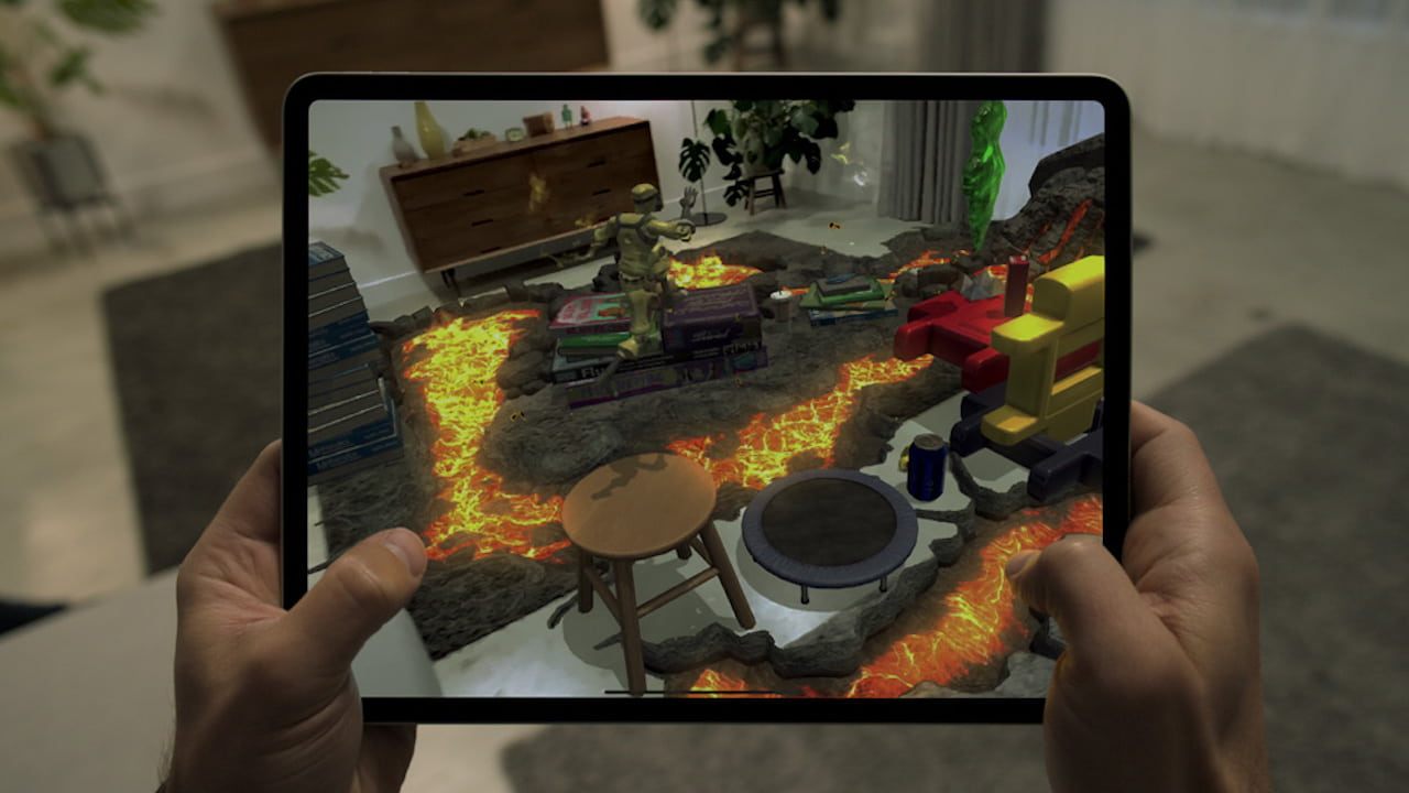 Apple claims the new iPad Pro to be the best device for AR. Image: Apple