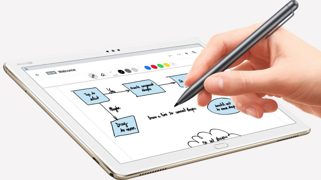 The tablet supports Huawei's M-Pen stylus.