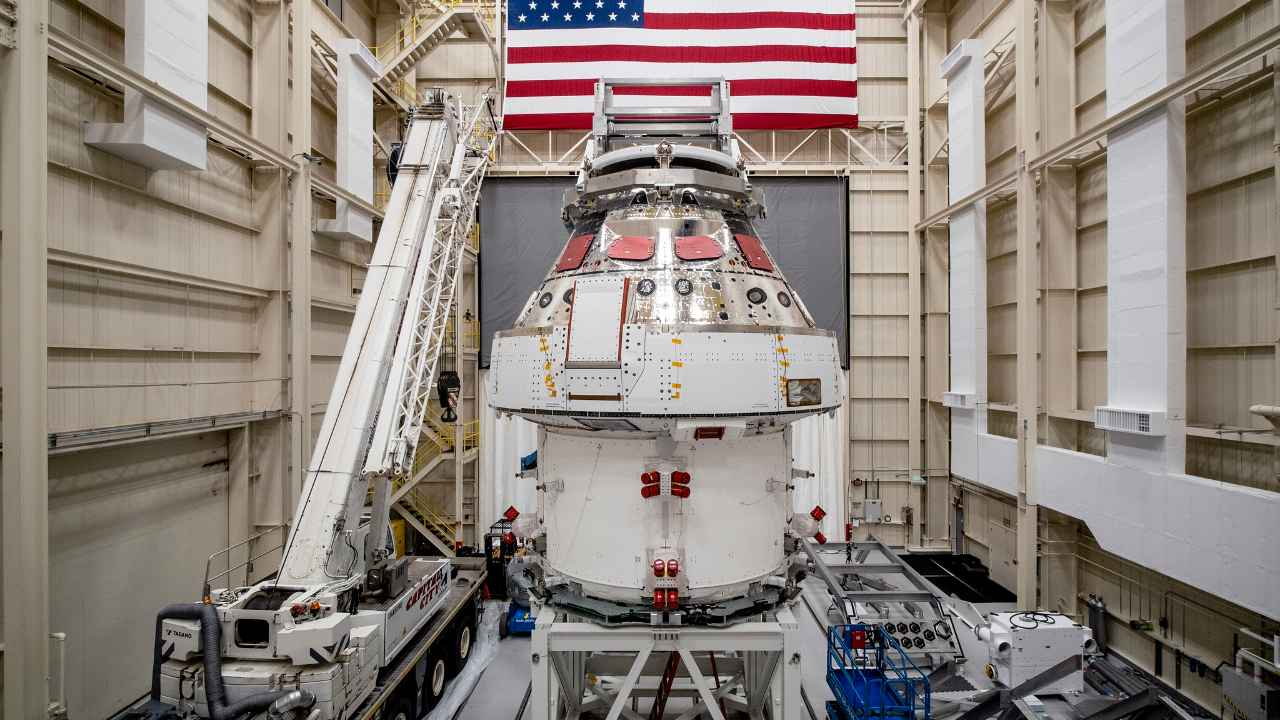 The Orion crew capsule that will carry the NASA astronauts to space. Image credit: NASA