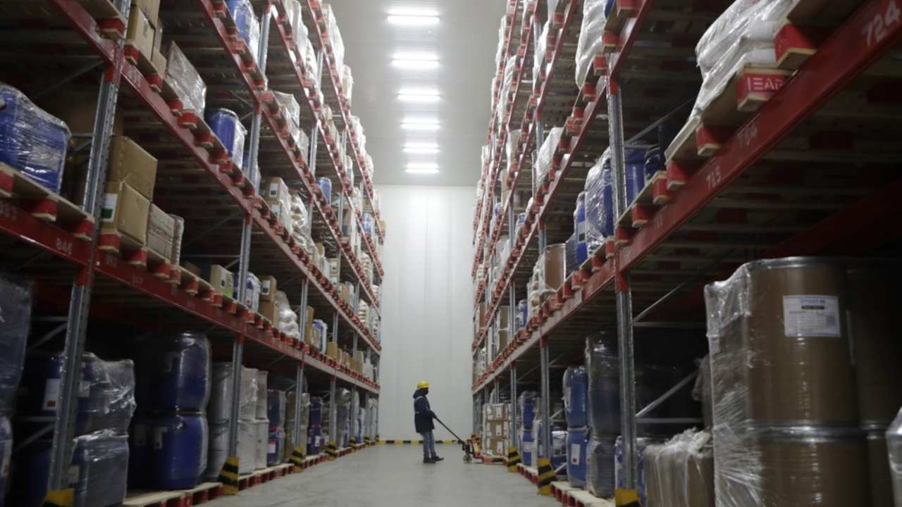 Snowman Logistics is India's largest cold storage company in Taloja, outskirts of Mumbai. AP
