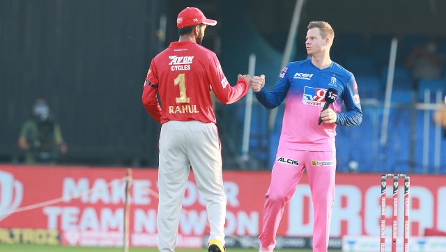 Steve Smith's Rajasthan Royals face an in-form Kings XI Punjab who have won their last five matches. Image: Sportzpics for BCCI