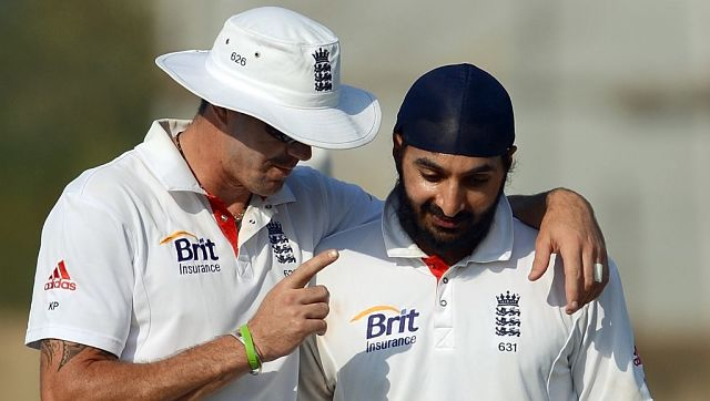Kevin Pietersen and Monty Panesar played a crucial role in helping England achieve a famous series win in India in 2012. AFP