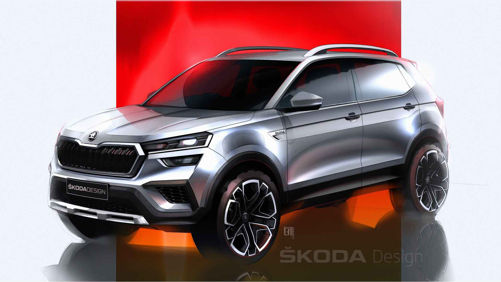 The production-spec Skoda Kushaq will retain most of the Vision IN concept's design. Image: Skoda